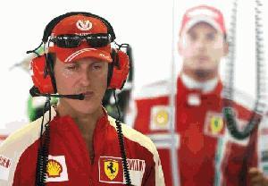Schumacher za volanom Mercedesa v F1